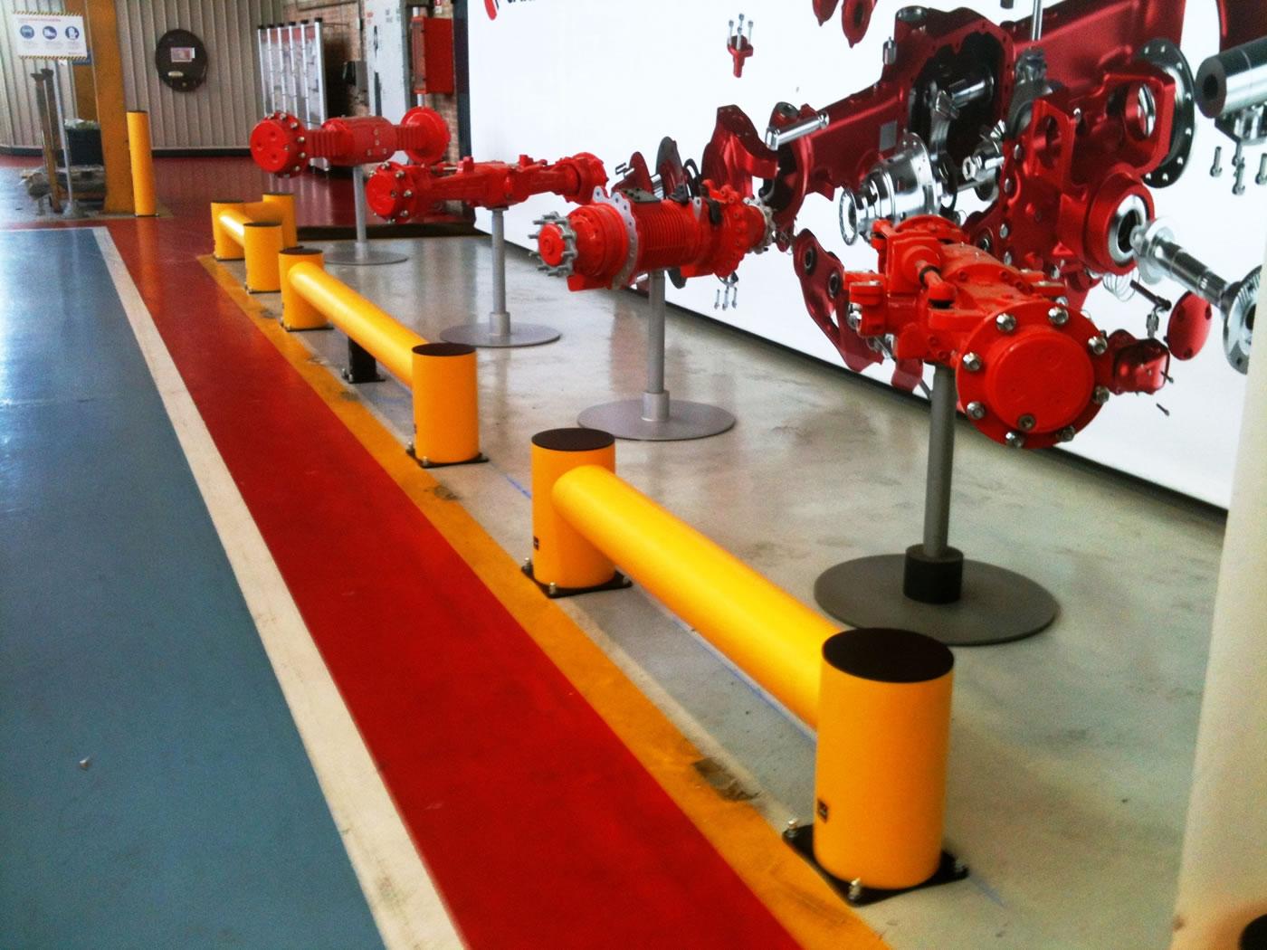 Protezione zona esposizione posta all'ingresso dei reparti produttivi (Traffic Barrier TB 400 e BO Impact)