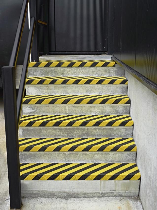 Pannelli antiscivolo alta visibilità per gradini
