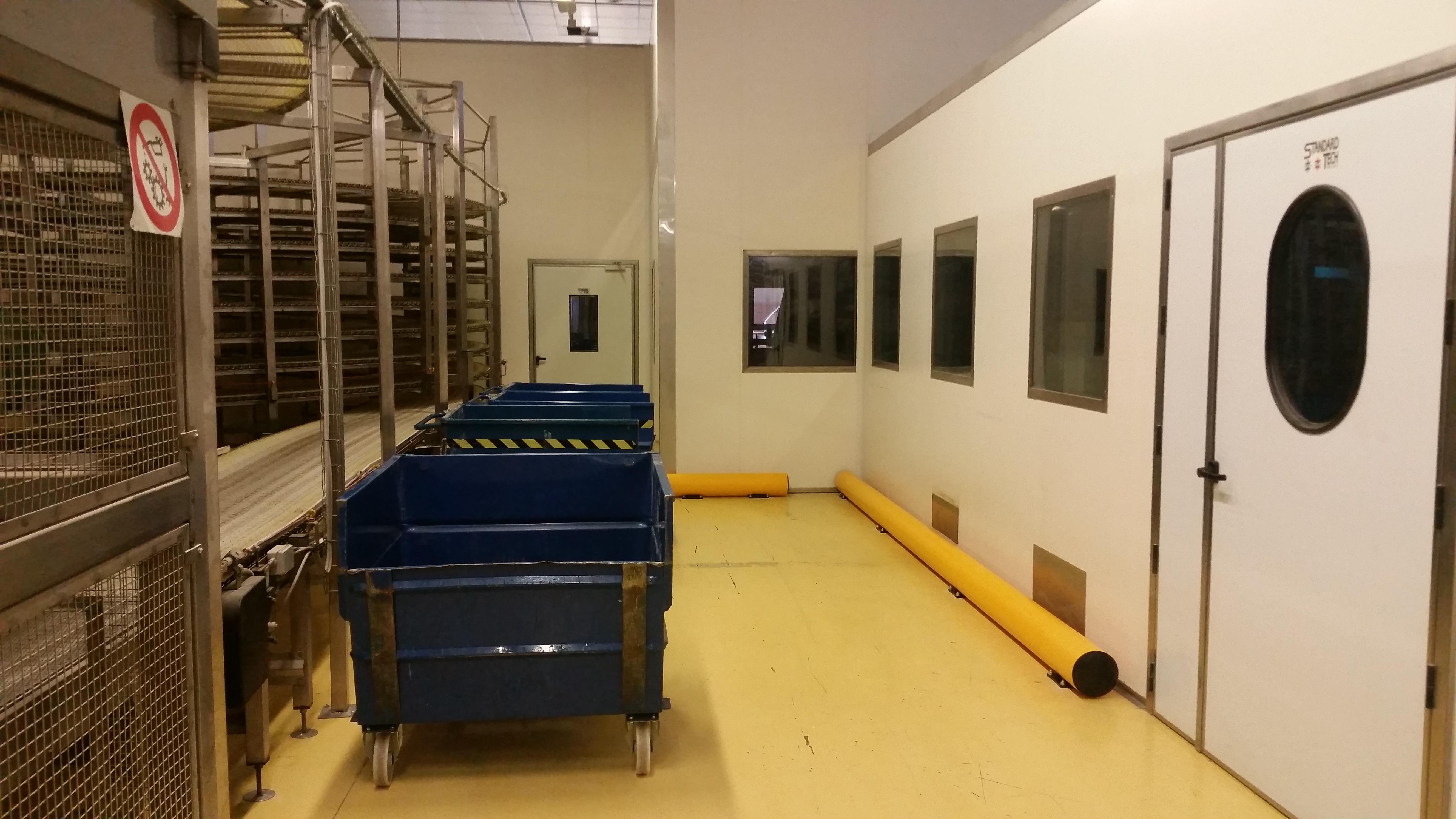 Protezione delle pareti in cella frigorifera