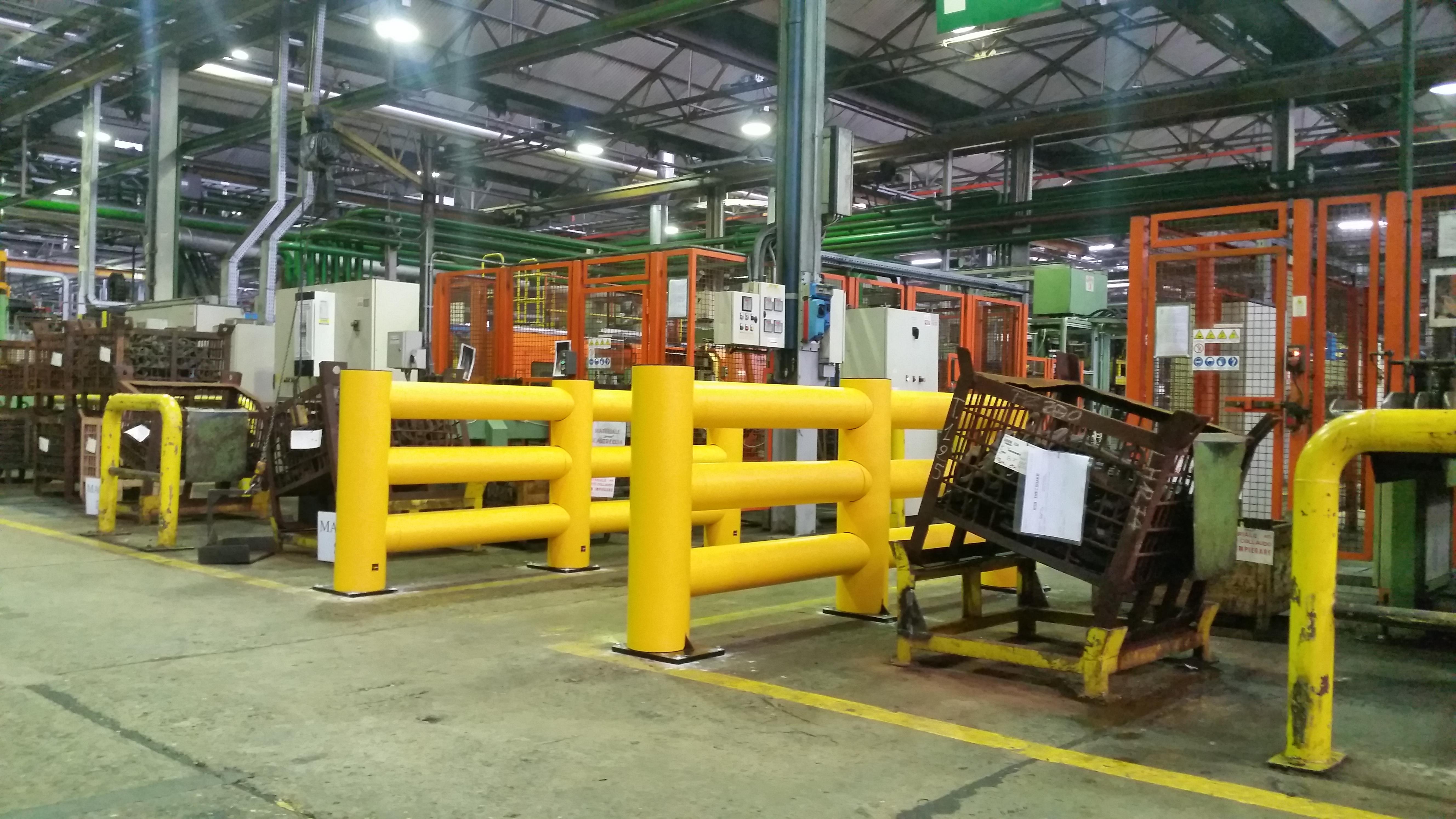 Barriera di sicurezza e protezione modulare e flessibile